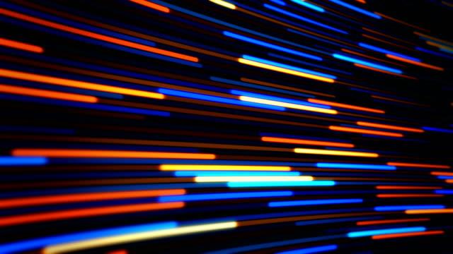 vídeos de stock, filmes e b-roll de linhas abstratas imagens de fundo loopable - light trail