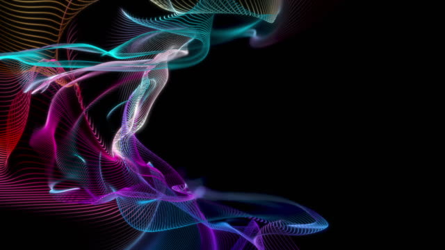 Abstract Lines Wave Background video
