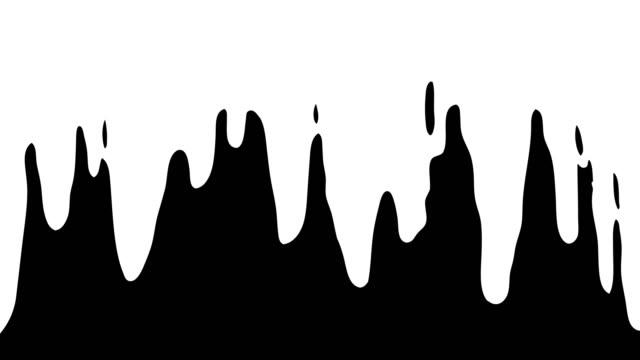 vídeos y material grabado en eventos de stock de abstract liquid top down transitions cartoon animation hand drawn. - gota líquido