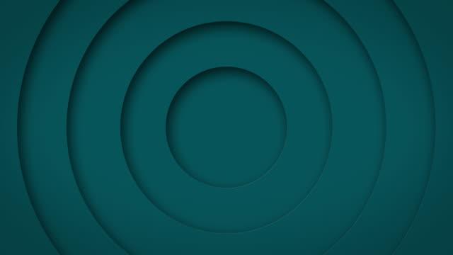 abstrakt logo promo mönster av cirklar med effekten av förskjutning turkos rena ringar animation abstrakt bakgrund för affärspresentation sömlös slinga 4k göra - tema bildbanksvideor och videomaterial från bakom kulisserna