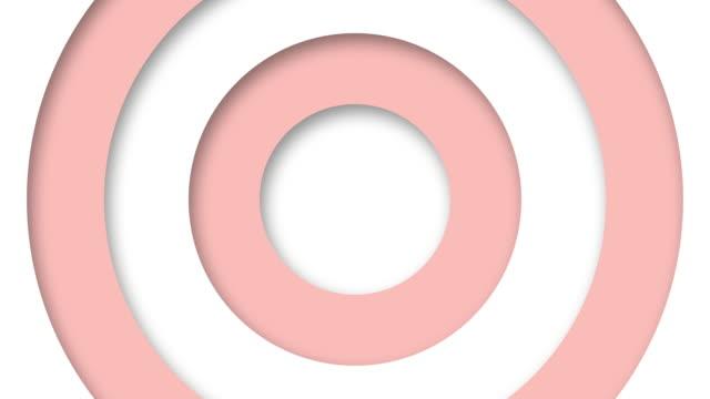 abstrakt logo promo mönster av cirklar med effekten av förskjutning vita och rosa rena ringar animation abstrakt bakgrund för affärspresentation sömlös slinga 4k göra - tema bildbanksvideor och videomaterial från bakom kulisserna