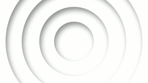 vídeos de stock e filmes b-roll de abstract logo promo pattern of circles with the effect of displacement white clean rings animation abstract background for business presentation seamless loop 4k  render - branco