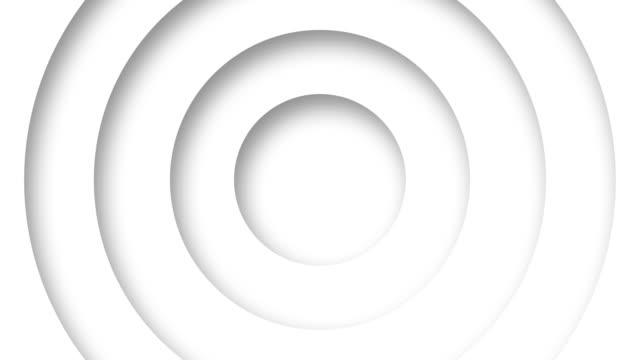 抽象標誌促銷圖案的圓圈與置換效果白色清潔環動畫抽象背景為業務演示無縫迴圈4k渲染 - 商標 個影片檔及 b 捲影像
