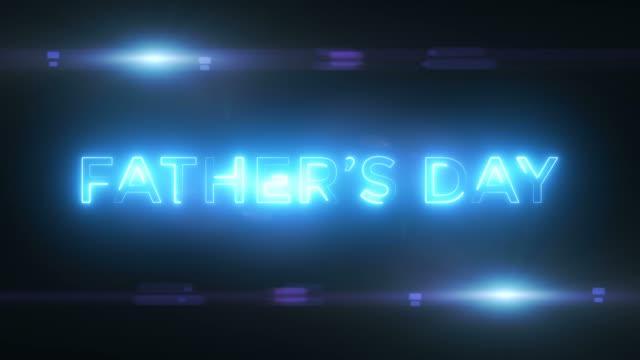 vídeos de stock, filmes e b-roll de resumo loop conceito de dia dos pais felizes - fathers day
