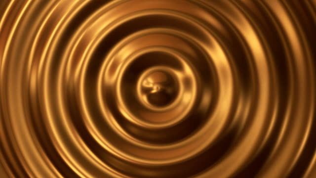 Abstract loop ripple gold 3d wave video