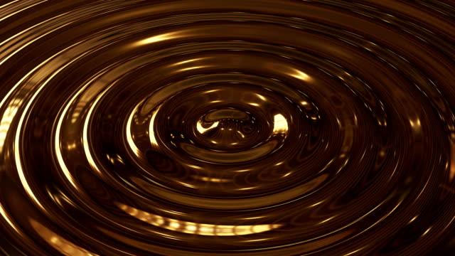 abstract loop ripple gold 3d wave - złoty kolory filmów i materiałów b-roll