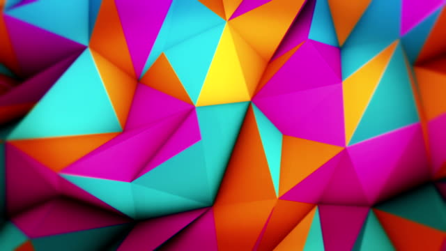 abstract loopable triangles - pattern stok videoları ve detay görüntü çekimi