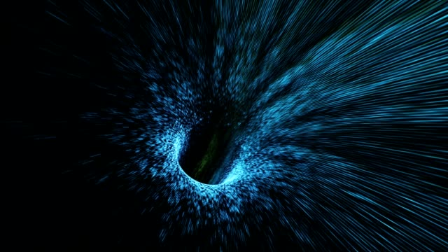 abstract looped background with animation of flight in sci-fi tunnel with fantastic lights. - infinito video stock e b–roll