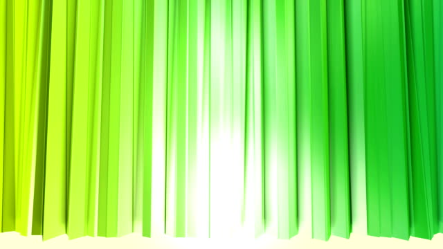 Abstract low poly style looped background. 3d seamless animation in 4k. Modern gradient colors. Low poly yellow green surface like curtains v2 video