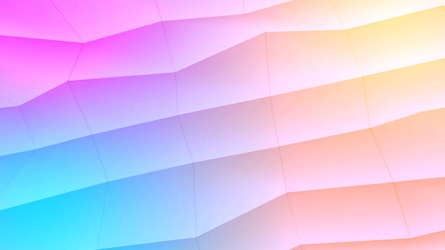 Abstract low-poly colorful element design background video