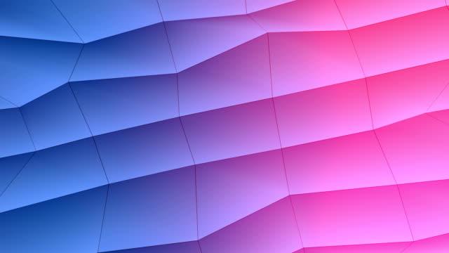 Low-poly élément coloré design abstrait - Vidéo