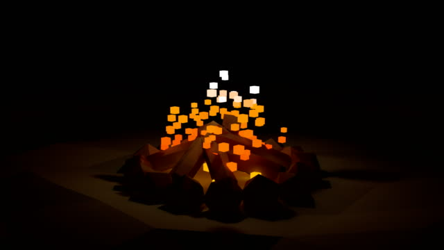 Abstract lowpoly fire video