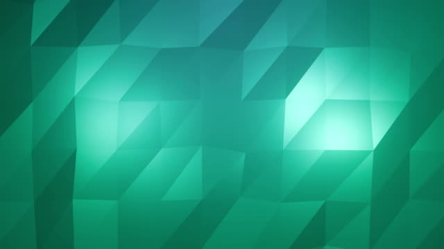Abstract low-poly green element design background video