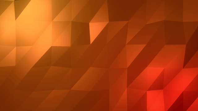 Abstract low-poly orange element design background video