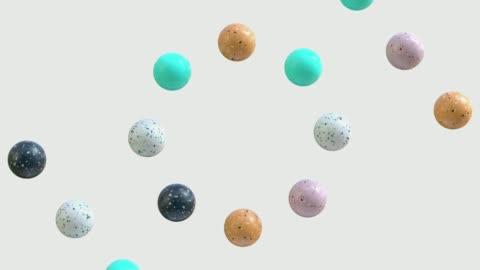 vídeos de stock e filmes b-roll de abstract marble shape 3d rendering motion graphic - forma