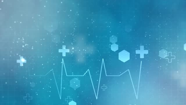 vídeos de stock e filmes b-roll de abstract medical background with flat icons and symbols loop animation background. - healthcare