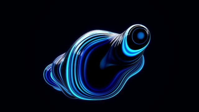 abstract metaball background blue - morphing video stock e b–roll