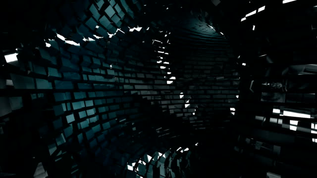 Abstract metallic tunnel background video