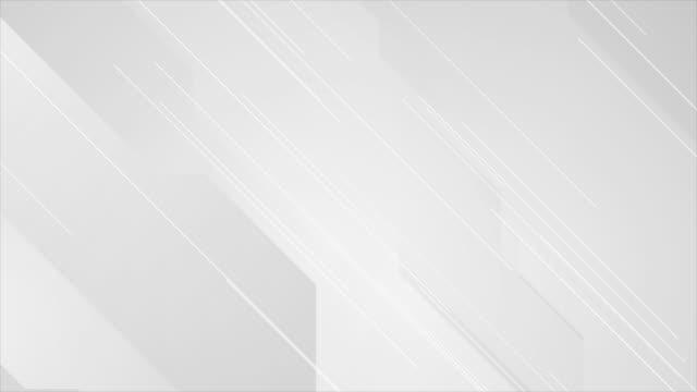 soyut minimal geometrik gri beyaz video animasyon - kompozisyon stok videoları ve detay görüntü çekimi