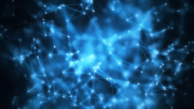 4k abstrakt molekylär mesh. - 4 kilometer bildbanksvideor och videomaterial från bakom kulisserna
