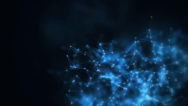 4k abstrakt molekylär mesh. - fysik bildbanksvideor och videomaterial från bakom kulisserna