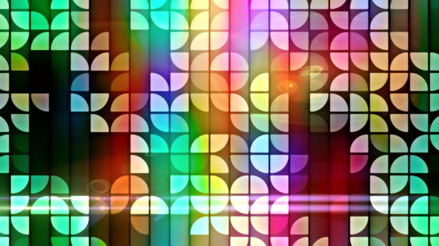Abstract mosaic loopable background video