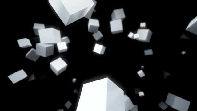 Abstract Motion Background. 3D cubes video
