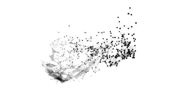 abstrakt rörelse bakgrund futuristisk polygonal stil. bakgrund för företagspresentationer. molekylär struktur linjer plexus 3d med skärpedjup. - nod bildbanksvideor och videomaterial från bakom kulisserna