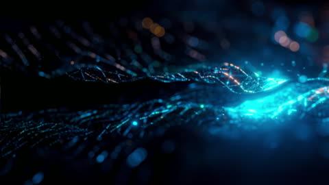 abstrakter bewegungshintergrund - hologramm stock-videos und b-roll-filmmaterial