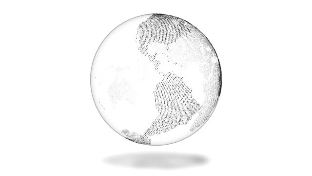 추상 모션 그래픽-회전 하는 지구 (루프) - 행성 스톡 비디오 및 b-롤 화면