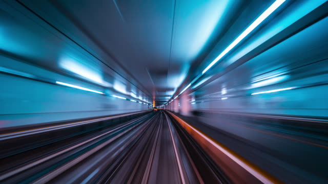Abstract motion in a tunnel Abstract motion in a tunnel with motion blur tunnel stock videos & royalty-free footage