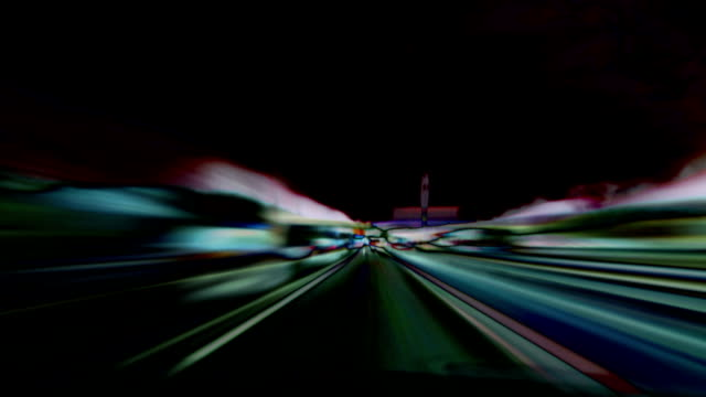 Abstract motorway loop. HD, NTSC, PAL video