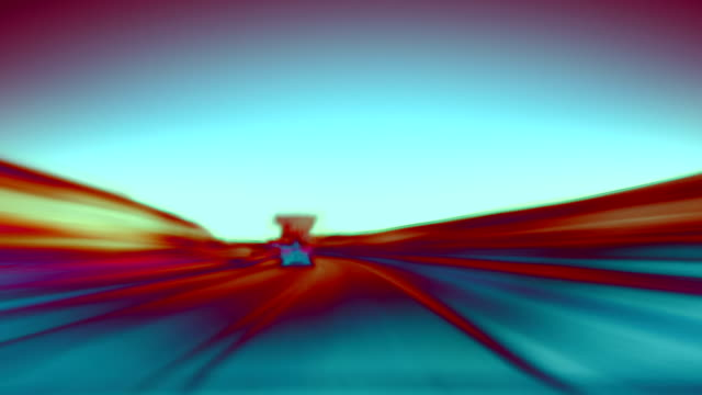 Abstract motorway loop. HD video
