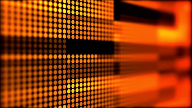 추상 이동 원 배경 - 주황색 스톡 비디오 및 b-롤 화면