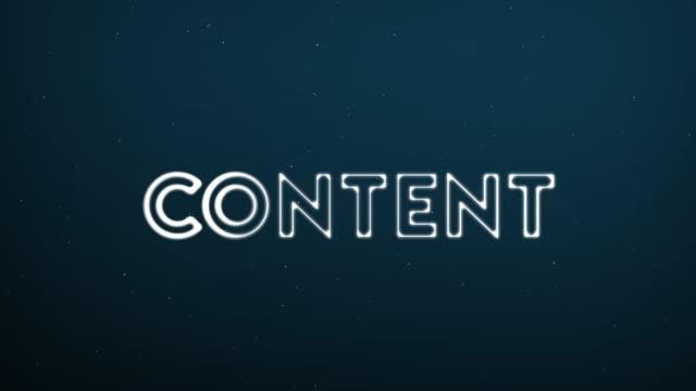 vidéos et rushes de résumé déplacement fond de structure de connexion avec texte contenu - content