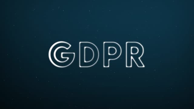Abstract moving connection structure background with text GDPR Abstract moving connection structure background with text GDPR obedience stock videos & royalty-free footage