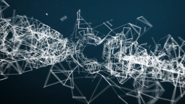 Résumé déplacement fond de structure de connexion avec texte SOCIAL - Vidéo