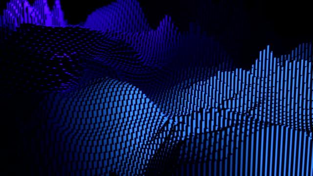 vídeos y material grabado en eventos de stock de forma de onda digital en movimiento como mountaion digital, tecnología fondo abstracto - copiar