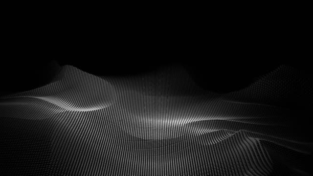 Abstract Moving Digital Wave Form as Digital Mountaion, Technology Background
