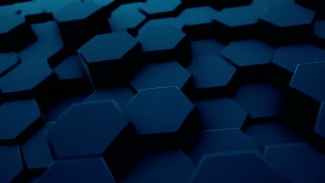 Abstract moving hexagonal background, seamless 3d loop animation Abstract moving hexagonal background, seamless 3d loop animation molecular structure stock videos & royalty-free footage