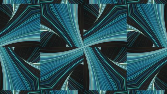vidéos et rushes de fond de kaléidoscope en mouvement abstrait. animation 4k. conception de mouvement - mosaïque