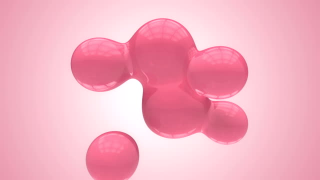 stockvideo's en b-roll-footage met abstract moving spheres with alpha pink - morphing