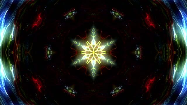 vídeos de stock, filmes e b-roll de resumo multi colorido caleidoscópio - organic shapes