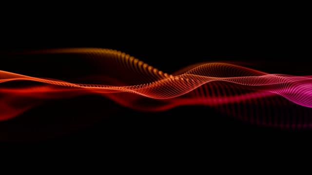 vídeos y material grabado en eventos de stock de fondo multicolor abstracto de la onda. - waves