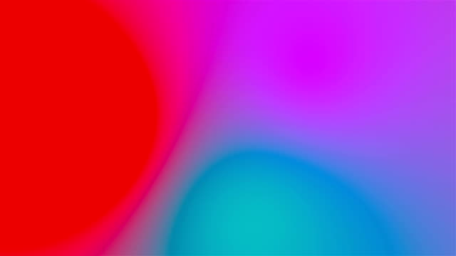 시각적 환상 및 색상 시프트 효과, 3d 렌더링 생성으로 추상적인 여러 색 배경 - 언덕 스톡 비디오 및 b-롤 화면