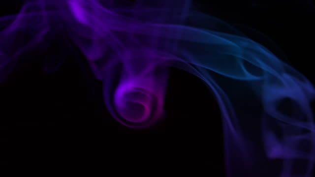 4K SLOW-MO: Abstract multicolored smoke video