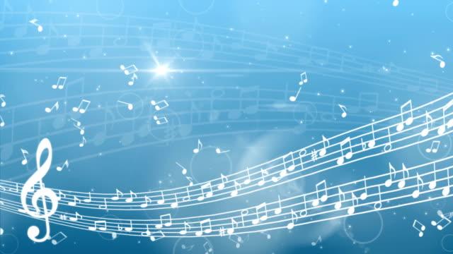 Abstrakter Musikhintergrund mit Noten – Video