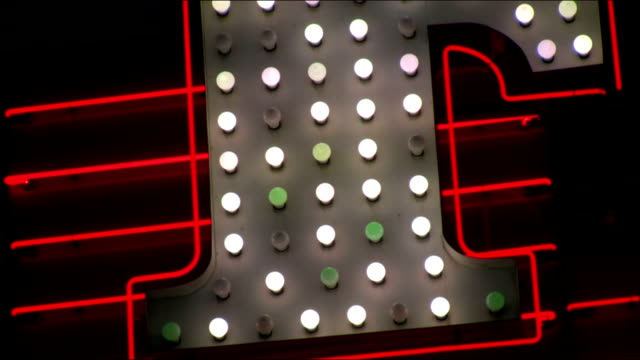 Abstract Neon and Light Bulb Marquee video