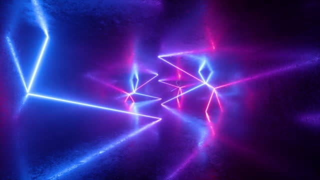 abstract neon background, ultraviolet light, pink blue glowing lines, flight forward inside endless tunnel, looped animation abstract neon background, ultraviolet light, pink blue glowing lines, flight forward inside endless tunnel, looped animation laser stock videos & royalty-free footage