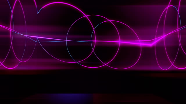 Abstract Neon Circles Abstract background,abstract geometric background, cyber space, housing logo stock videos & royalty-free footage